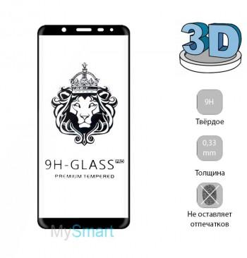 Защитное стекло 3D Samsung A605 (A6 Plus-2018) черное