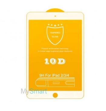 Защитное Стекло iPad 2/3/4 [10D] белое