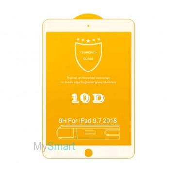 Защитное Стекло iPad 9.7 2018 [10D] белое