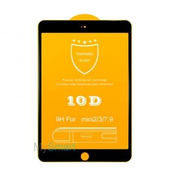 Защитное Стекло iPad mini 1/2/3 [10D] черное