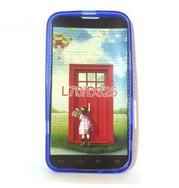 Силиконовый чехол LG L70/D325 синий
