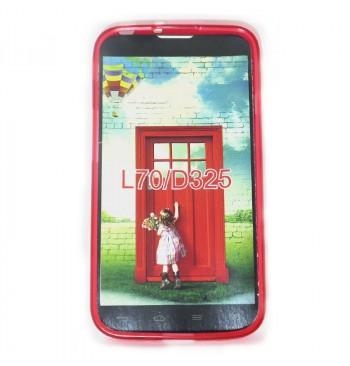 Силиконовый чехол LG L70/D325 красный