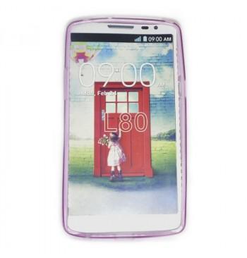 Силиконовый чехол LG L80 розовый