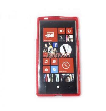 Силиконовый чехол Nokia 720/720Т красный