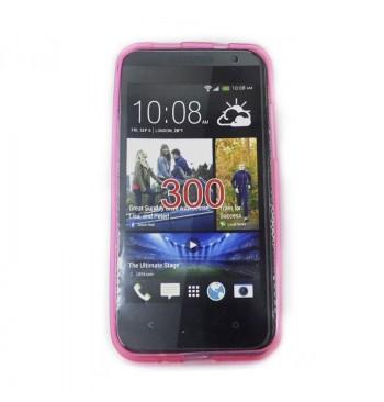 Силиконовый чехол HTC 300 розовый