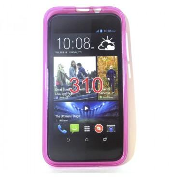 Силиконовый чехол HTC 310 розовый