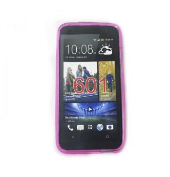 Силиконовый чехол HTC 601 розовый