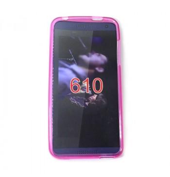 Силиконовый чехол HTC 610 розовый
