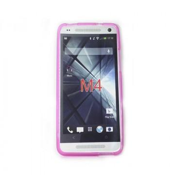 Силиконовый чехол HTC M4 розовый