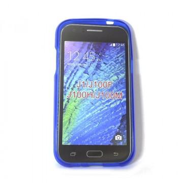 Силиконовый чехол Samsung J1 J100F синий