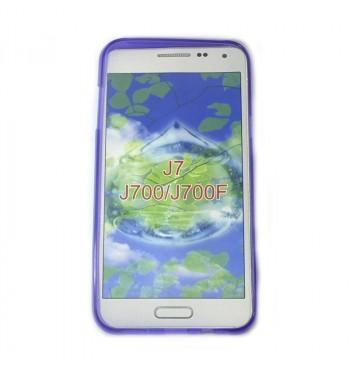 Силиконовый чехол Samsung J7 фиолетовый
