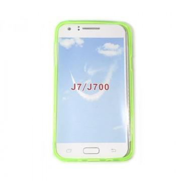 Силиконовый чехол Samsung J7 зеленый