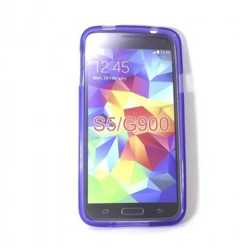 Силиконовый чехол Samsung S5 G900 фиолетовый