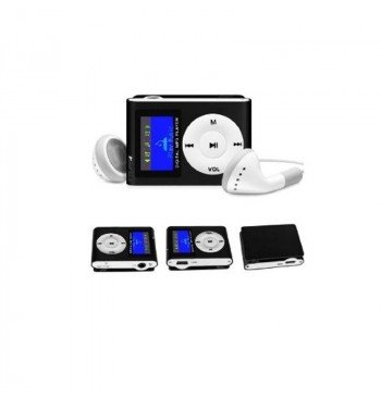 MP3 player SLIM black + LCD + HF