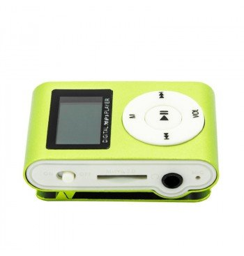 MP3 player SLIM green + LCD + HF