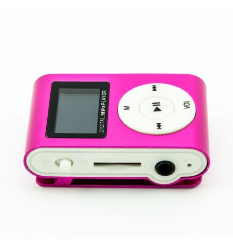 MP3 player SLIM pink + LCD + HF