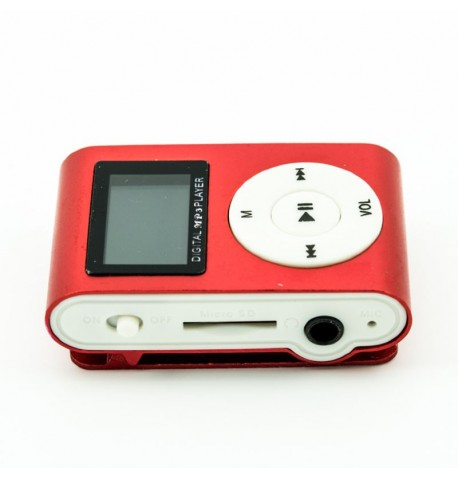 MP3 player SLIM red + LCD + HF