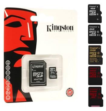 Карта памяти microSDHC 8Gb Kingston (Class 4) + Adapter SD