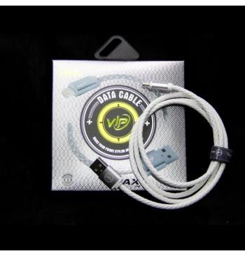 Кабель iMAX Lightning Leather cable white 1m