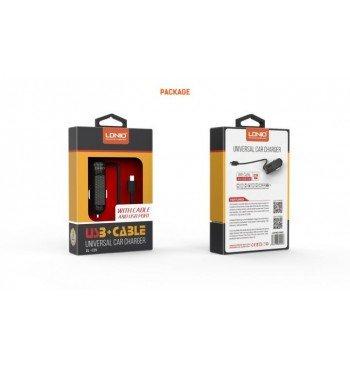 Автомобильное зарядное устройство DL-C25 +cable micro usb