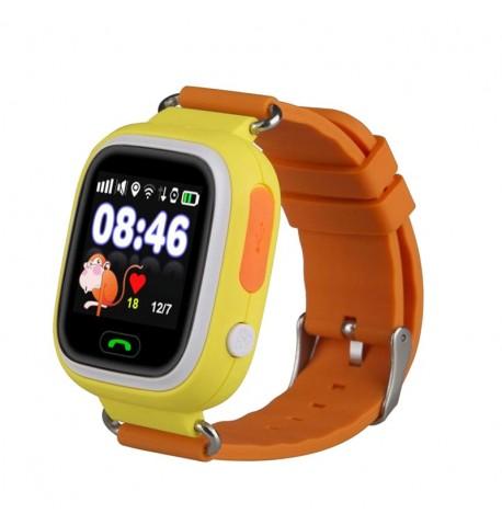 Детские умные часы с GPS трекером TD-02 (Q100) Orange