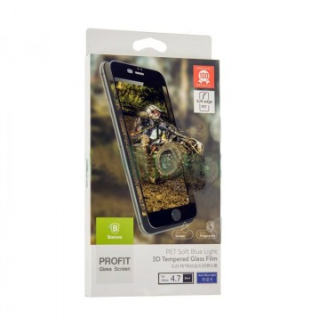 Защитное Стекло Baseus (OR) PET Soft 3D Anti-Blue Light iPhone 6 Black (0.23mm)