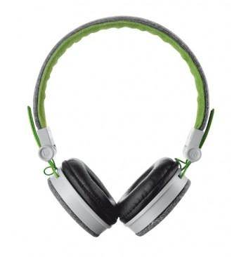 Наушники TRUST Urban Revolt Fyber headphone Grey/Green